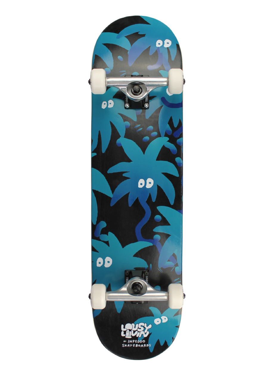Lousy Livin by Inpeddo, Palm Eyes, Skateboard Complete - 8""