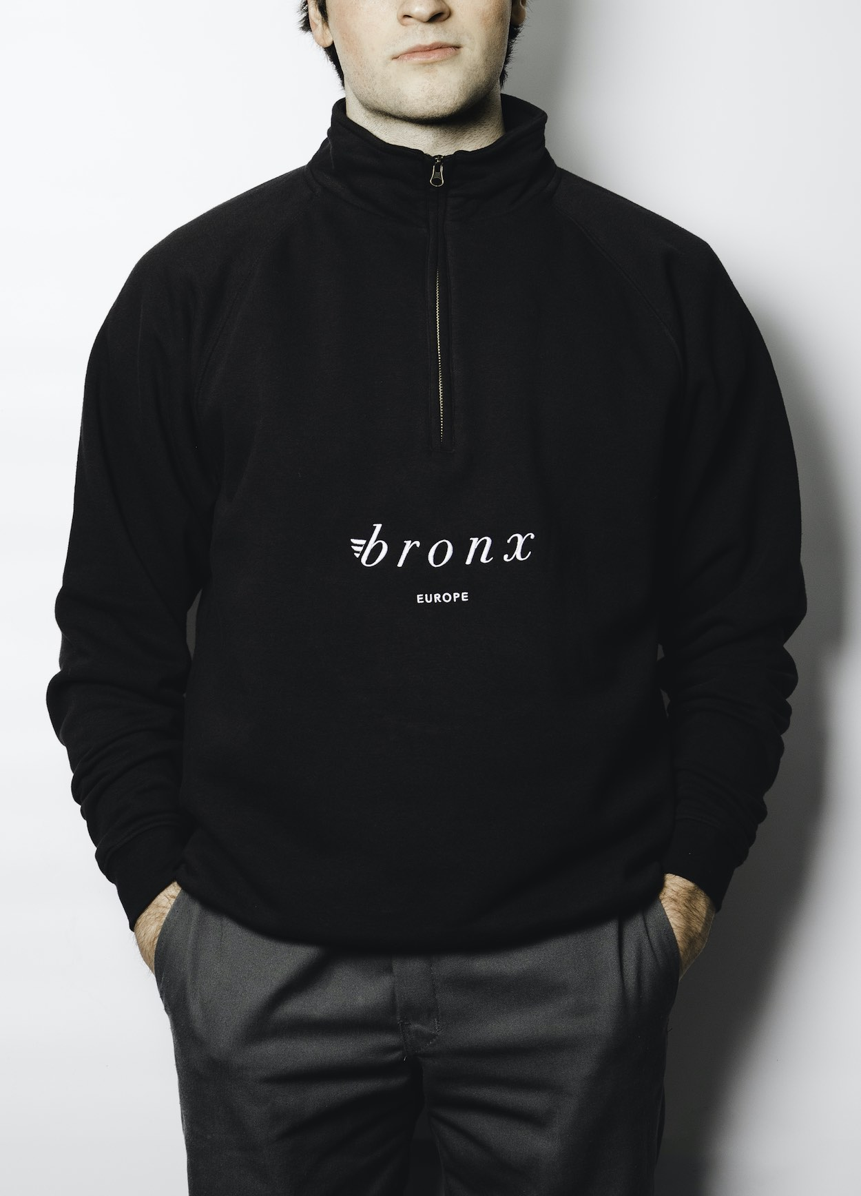 Bronx, Zip-Neck Sweater, Europe, black
